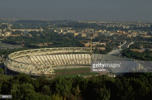 General view of the Stadio Olimpico in Rome Mandatory Credit Bob Martin /Allsport
