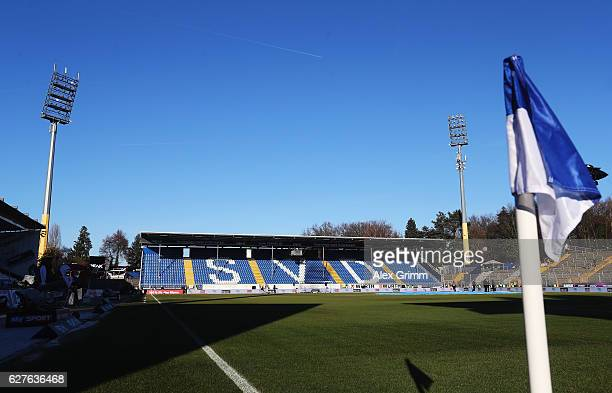 A general view of the Stadion am Boellenfalltor prior to the Bundesliga match between SV Darmstadt 98 and Hamburger SV at Stadion am Boellenfalltor...