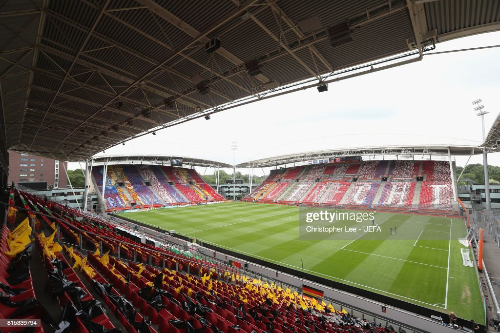 General view of the Stadion Galgenwaard during the UEFA Women's Euro 2017 Group A match between Netherlands and Norway at Stadion Galgenwaard on July 16, 2017 in Utrecht, Netherlands.