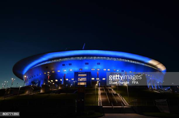 A general view of the stadium after the FIFA Confederations Cup Russia 2017 Final match between Chile and Germany at Saint Petersburg Stadium on July...