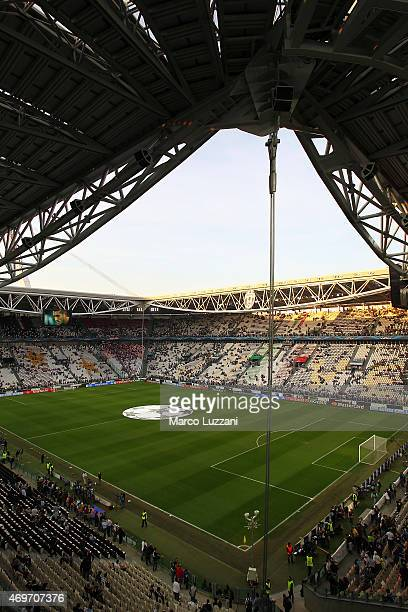A general view of the stadium ahead before the UEFA Champions League Quarter Final First Leg match between Juventus and AS Monaco FC at Juventus...