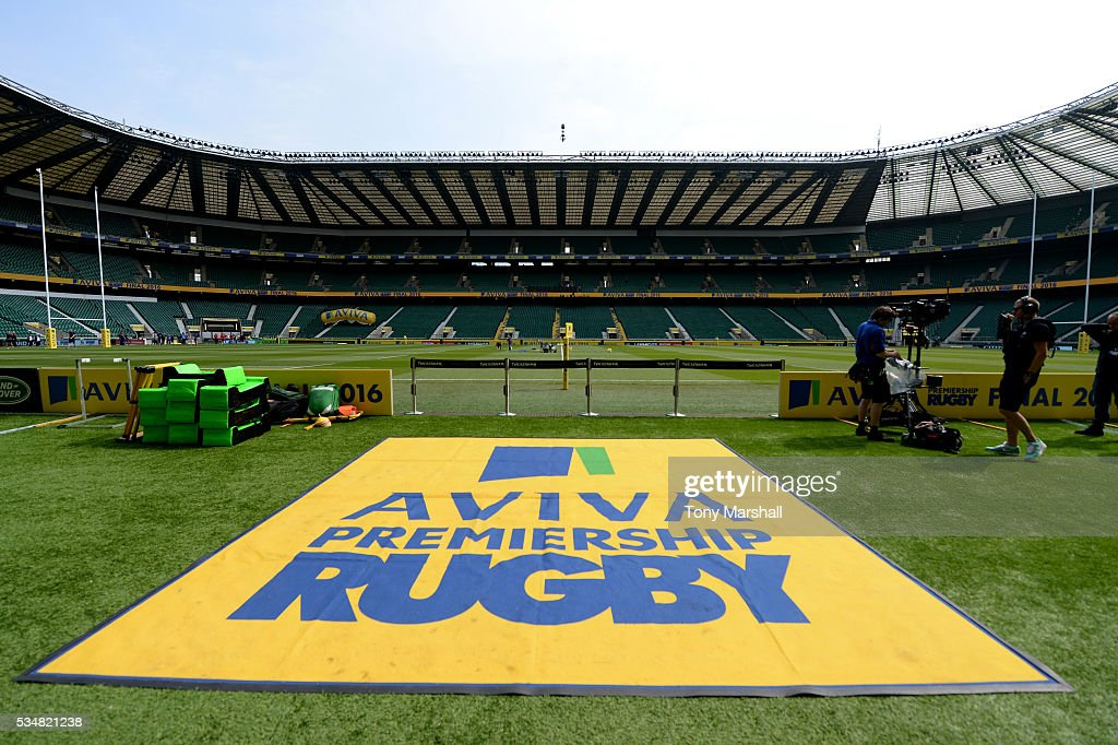 A general view of the stadium ahead of the Aviva Premiership final match between Saracens and Exeter Chiefs at Twickenham Stadium on May 28, 2016 in London, England.