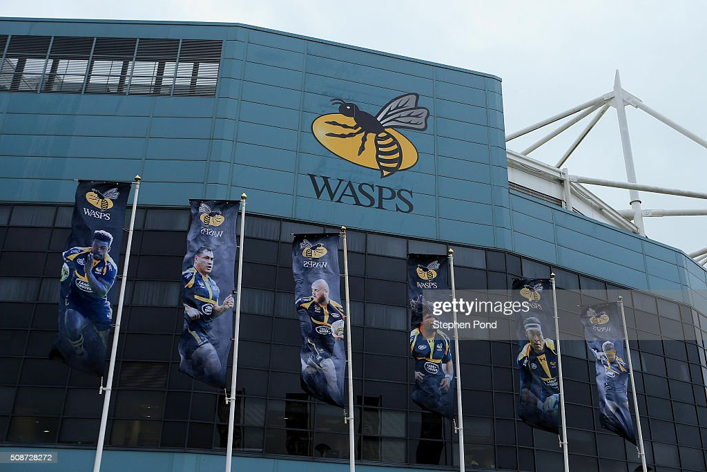 A general view of the stadium ahead of the Aviva Premiership match between Wasps and Newcastle Falcons at the Ricoh Arena on February 6, 2016 in Coventry, England.