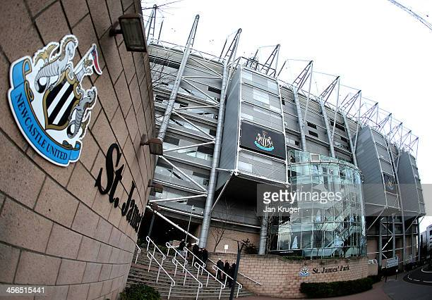 A general view of the stadium ahead of the Barclays Premier League match between Newcastle United and Southampton at St James' Park on December 14...