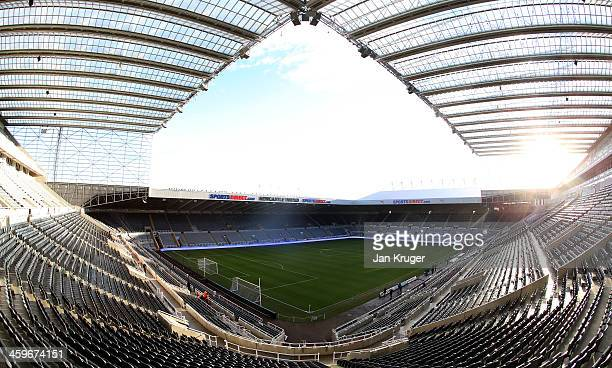 General view of the stadium ahead of the Barclays Premier League match between Newcastle United and Arsenal at St James' Park on December 29 2013 in...