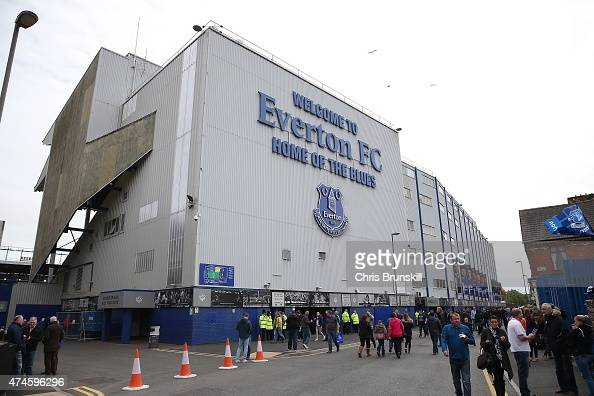 A general view of the stadium ahead of the Barclays Premier League match between Everton and Tottenham Hotspur at Goodison Park on May 24 2015 in...