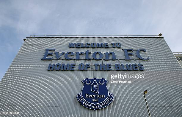 A general view of the stadium ahead of the Barclays Premier League match between Everton and Aston Villa at Goodison Park on November 21 2015 in...