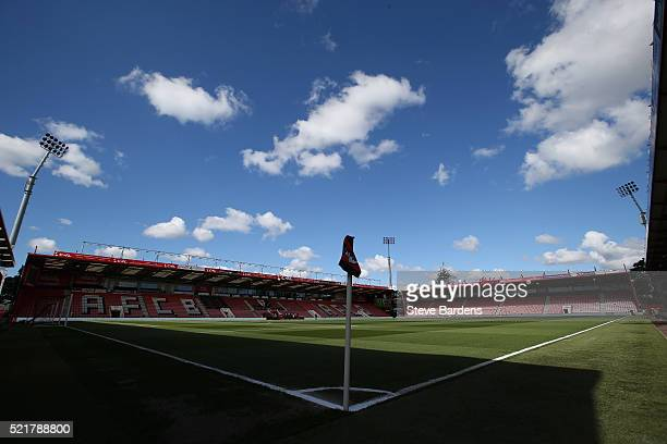 A general view of the stadium ahead of the Barclays Premier League match between AFC Bournemouth and Liverpool at the Vitality Stadium on April 17...