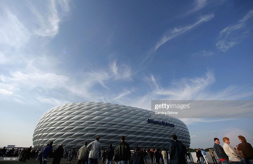 A general view of the stadium ahead of the exhibtion match between the traditional teams of 1860 Munich and Bayern Munich at the Allianz Arena on May...