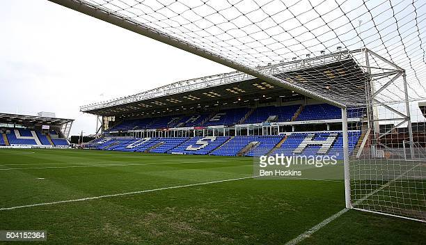 A general view of the stadium ahead of the FA Cup Third Round match between Peterborough United and Preston North End at London Road Stadium on...