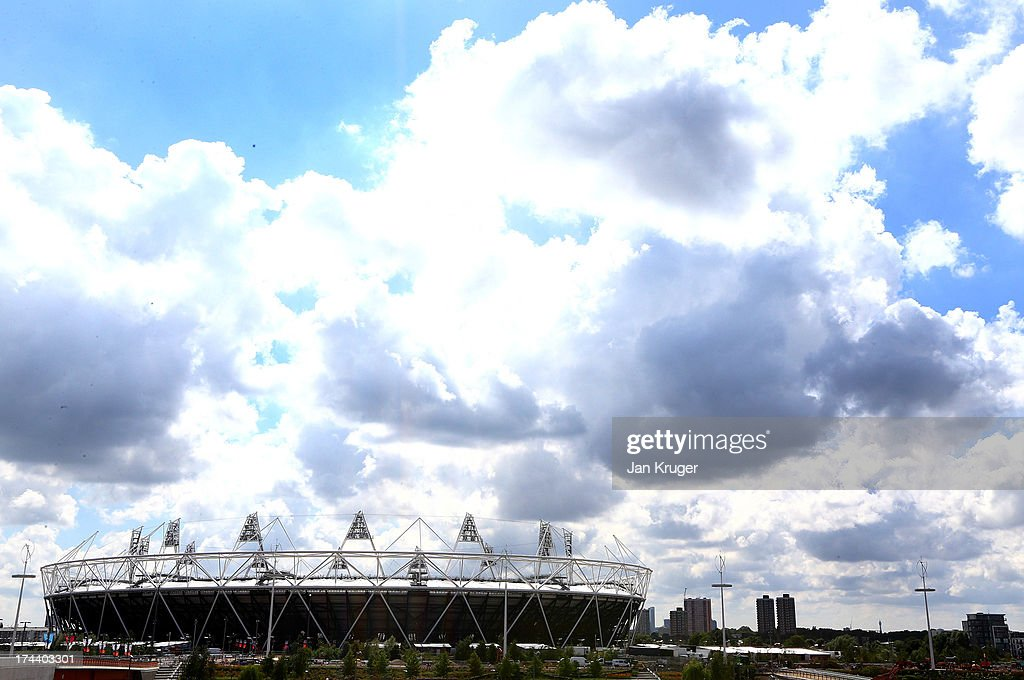 A general view of the stadium ahead of the Sainsbury's Anniversary Games - IAAF Diamond League at The Olympic Stadium on July 25, 2013 in London, England.