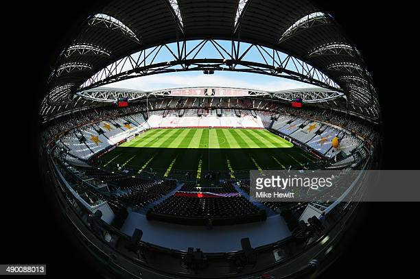 A general view of the stadium ahead of the UEFA Europa League Final between Sevilla FC and SL Benfica at Juventus Arena on May 13 2014 in Turin Italy