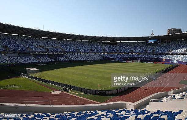A general view of the stadium ahead of the UEFA Super Cup match between Barcelona and Sevilla FC at Dinamo Stadium on August 10 2015 in Tbilisi...