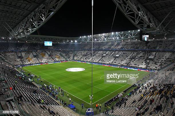 A general view of the stadium ahead the UEFA Champions League group stage match between Juventus and VfL Borussia Moenchengladbach at Juventus Arena...