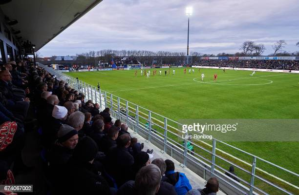 General view of the stadium and the pitch during the Danish cup DBU Pokalen semfinal match between Vendsyssel FF and FC Copenhagen at Bredband Nord...