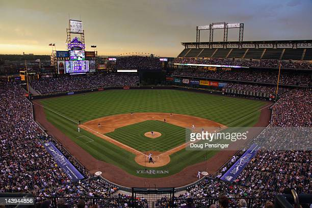 A general view of the stadium as the Atlanta Braves defeat the Colorado Rockies 139 at Coors Field on May 5 2012 in Denver Colorado