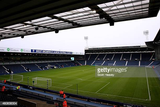 A general view of the stadium before the Barclays Premier League match between West Bromwich Albion and Manchester City at The Hawthorns on December...