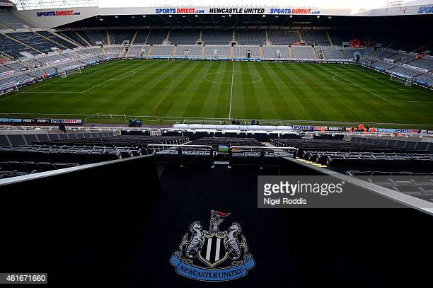A general view of the stadium before the Barclays Premier League match between Newcastle United and Southampton at St James' Park on January 17 2015...