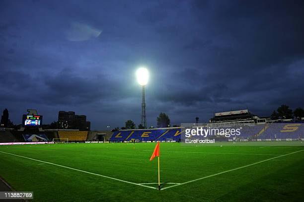 A general view of the stadium before the Bulgarian A League match between PFC Levski Sofia and PFC Litex Lovech at Georgi Asparuhov stadium on May 08...