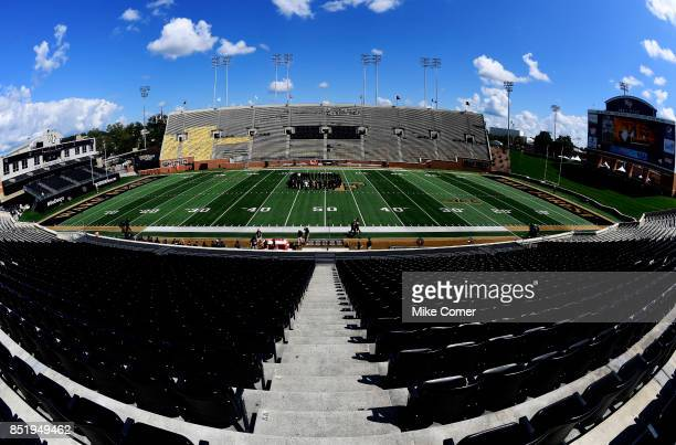 A general view of the stadium before the Demon Deacons' football game against the Utah State Aggies at BBT Field on September 16 2017 in Winston...