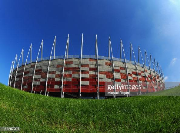 A general view of the stadium before the FIFA 2014 World Cup Qualifier between Poland and England at the National Stadium on October 17 2012 in...