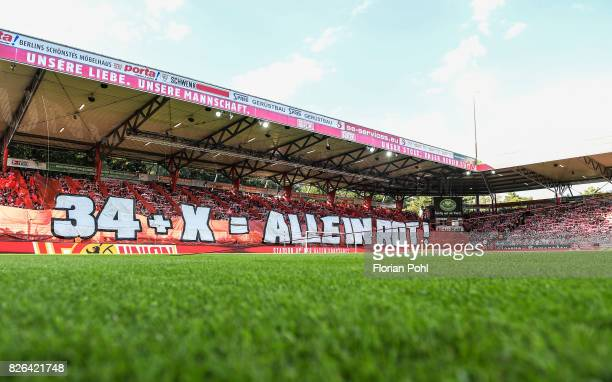 A general view of the stadium before the game between Union Berlin and Kieler SV Holstein on august 4 2017 in Berlin Germany