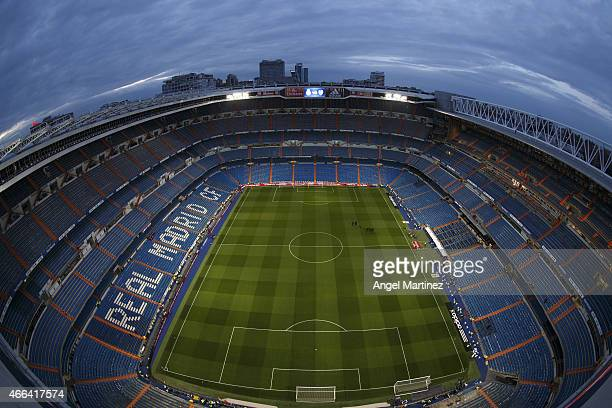 A general view of the stadium before the La Liga match between Real Madrid CF and Levante UD at Estadio Santiago Bernabeu on March 15 2015 in Madrid...