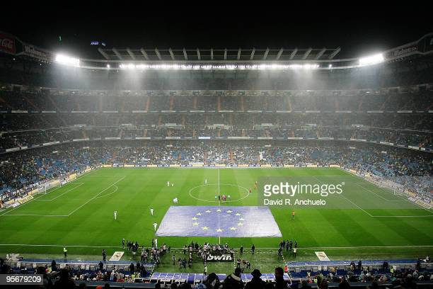 General view of the stadium before the La Liga match between Real Madrid and Mallorca at Estadio Santiago Bernabeu on January 10 2010 in Madrid Spain