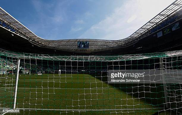 General view of the stadium before the match between Palmeiras and Atletico MG for the Brazilian Series A 2016 at Allianz Parque stadium on July 24...