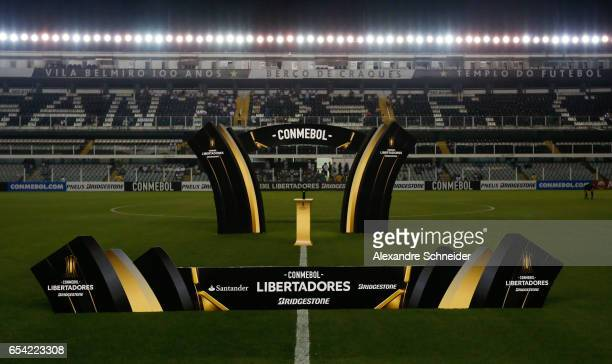 General view of the stadium before the match between Santos of Brazil and The Strongest of Bolivia for the Copa Bridgestone Libertadores 2017 at Vila...