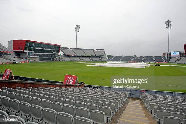 A general view of the stadium before the Natwest T20 Blast Quarter final between Lancashire Lightning and Glamorgan at Old Trafford on August 2 2014...