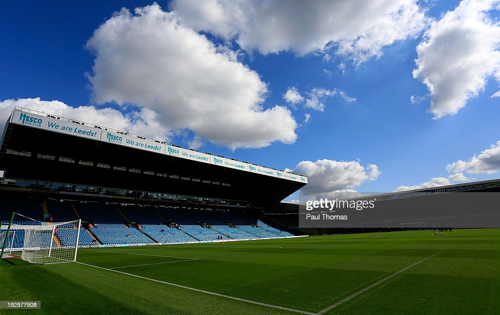 A general view of the stadium before the npower Championship match between Leeds United and Nottingham Forest at Elland Road on September 22 2012 in...