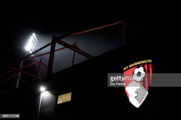 A general view of the stadium before the Premier League match between AFC Bournemouth and Manchester City at Vitality Stadium on February 13 2017 in...
