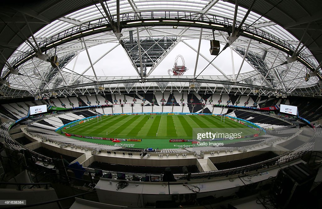 A general view of the stadium before the Rugby World Cup 2015 Pool B match between South Africa and United States of America at the Queen Elizabeth...