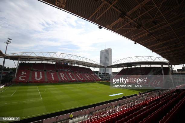 General view of the stadium before the UEFA Women's Euro 2017 match between England and Scotland at Stadion Galgenwaard on July 19 2017 in Utrecht...