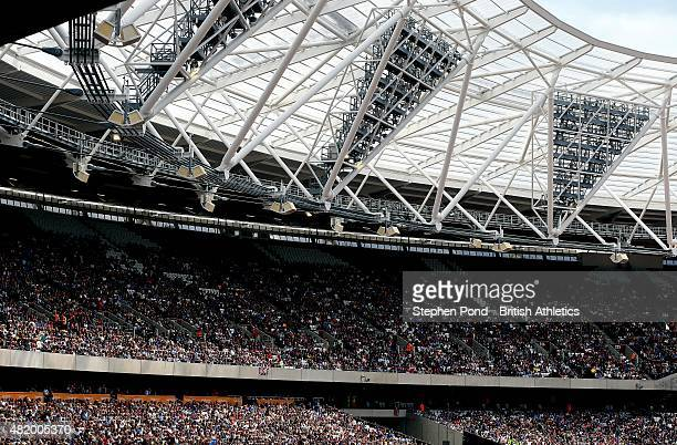 A general view of the stadium during day two of the Sainsbury's Anniversary Games IAAF Diamond League event at The Stadium Queen Elizabeth Olympic...