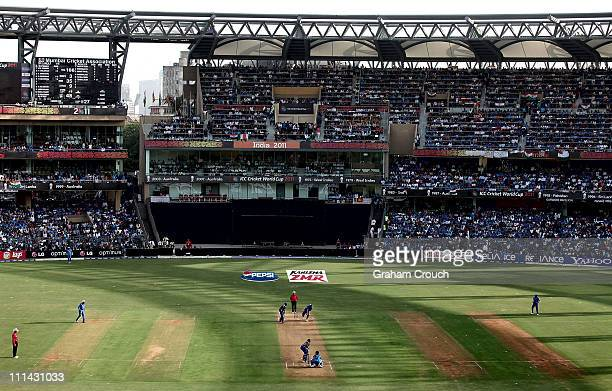 A general view of the stadium during the 2011 ICC World Cup Final between India and Sri Lanka played at Wankhede Stadium on April 2 2011 in Mumbai...