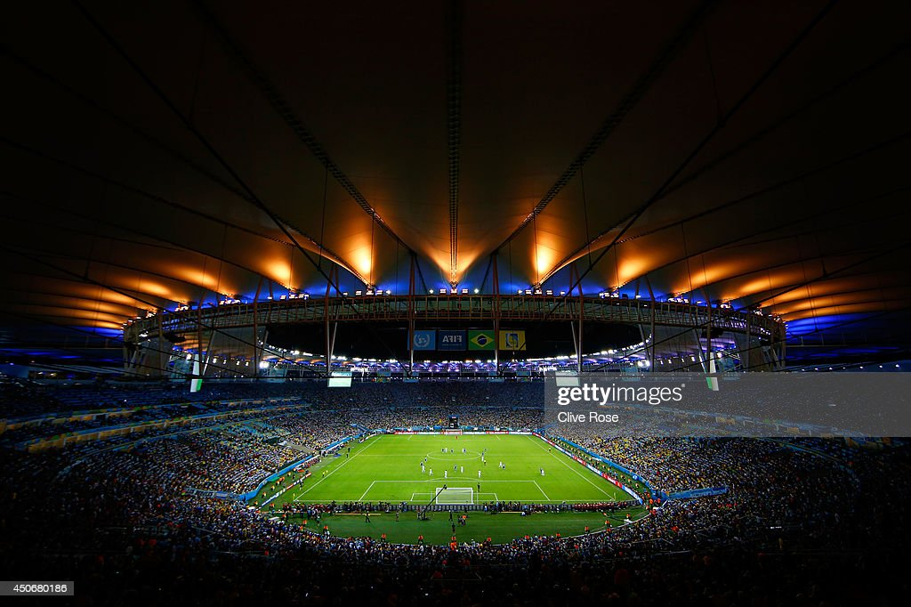 A general view of the stadium during the 2014 FIFA World Cup Brazil Group F match between Argentina and Bosnia-Herzegovina at Maracana on June 15, 2014 in Rio de Janeiro, Brazil.