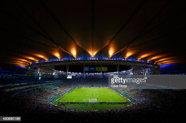 A general view of the stadium during the 2014 FIFA World Cup Brazil Group F match between Argentina and BosniaHerzegovina at Maracana on June 15 2014...