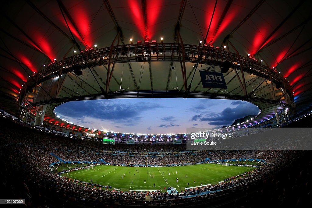 A general view of the stadium during the 2014 FIFA World Cup Brazil Final match between Germany and Argentina at Maracana on July 13 2014 in Rio de...