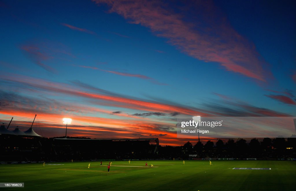 A general view of the stadium during the 5th NatWest Series ODI between England and Austalia at the Ageas Bowl on September 16, 2013 in Southampton, England.