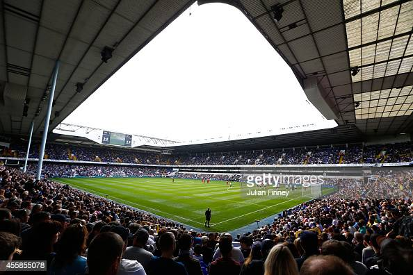 A general view of the stadium during the Barclays Premier League match between Tottenham Hotspur and West Bromwich Albion at White Hart Lane on...