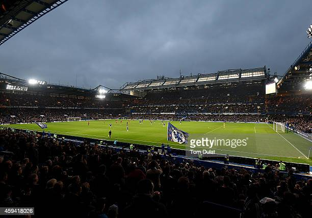 General view of the stadium during the Barclays Premier League match between Chelsea and West Bromwich Albion at Stamford Bridge on November 22 2014...