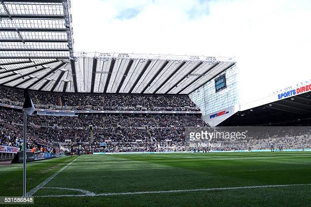 A general view of the stadium during the Barclays Premier League match between Newcastle United and Tottenham Hotspur at St James' Park on May 15...
