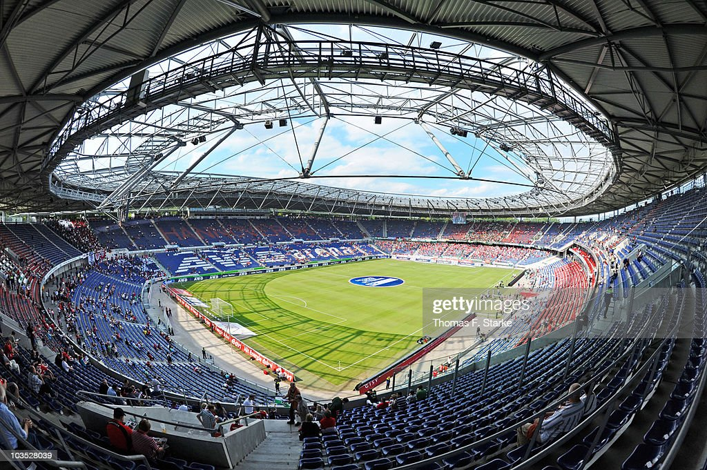 A general view of the stadium during the Bundesliga match between Hannover 96 and Eintracht Frankfurt at the AWD Arena on August 21 2010 in Hanover...