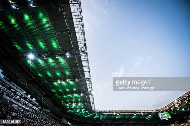 General view of the stadium during the Bundesliga match between Borussia Moenchengladbach and 1 FC Koeln at BorussiaPark on August 20 2017 in...