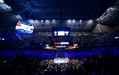 A general view of the stadium during the Canelo vs Trout Super Welterweight World Championship Unification fight at the Alamodome on April 20th 2013...