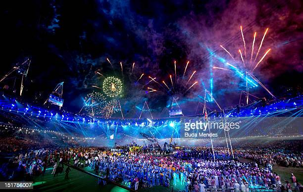 A general view of the stadium during the Closing Ceremony of the London 2012 Paralympic Games at Olympic Stadium on September 9 2012 in London England
