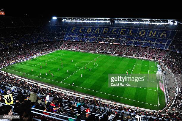 A general view of the stadium during the Copa del Rey round of 32 second leg match between FC Barcelona and Cartagena at Camp Nou on December 17 2013...