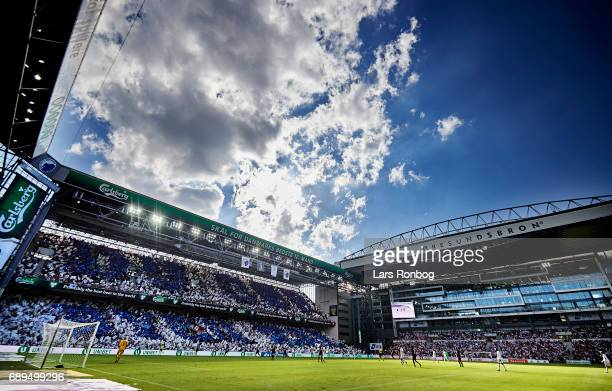 General view of the stadium during the Danish Alka Superliga match between FC Copenhagen and Sonderjyske at Telia Parken Stadium on May 28 2017 in...